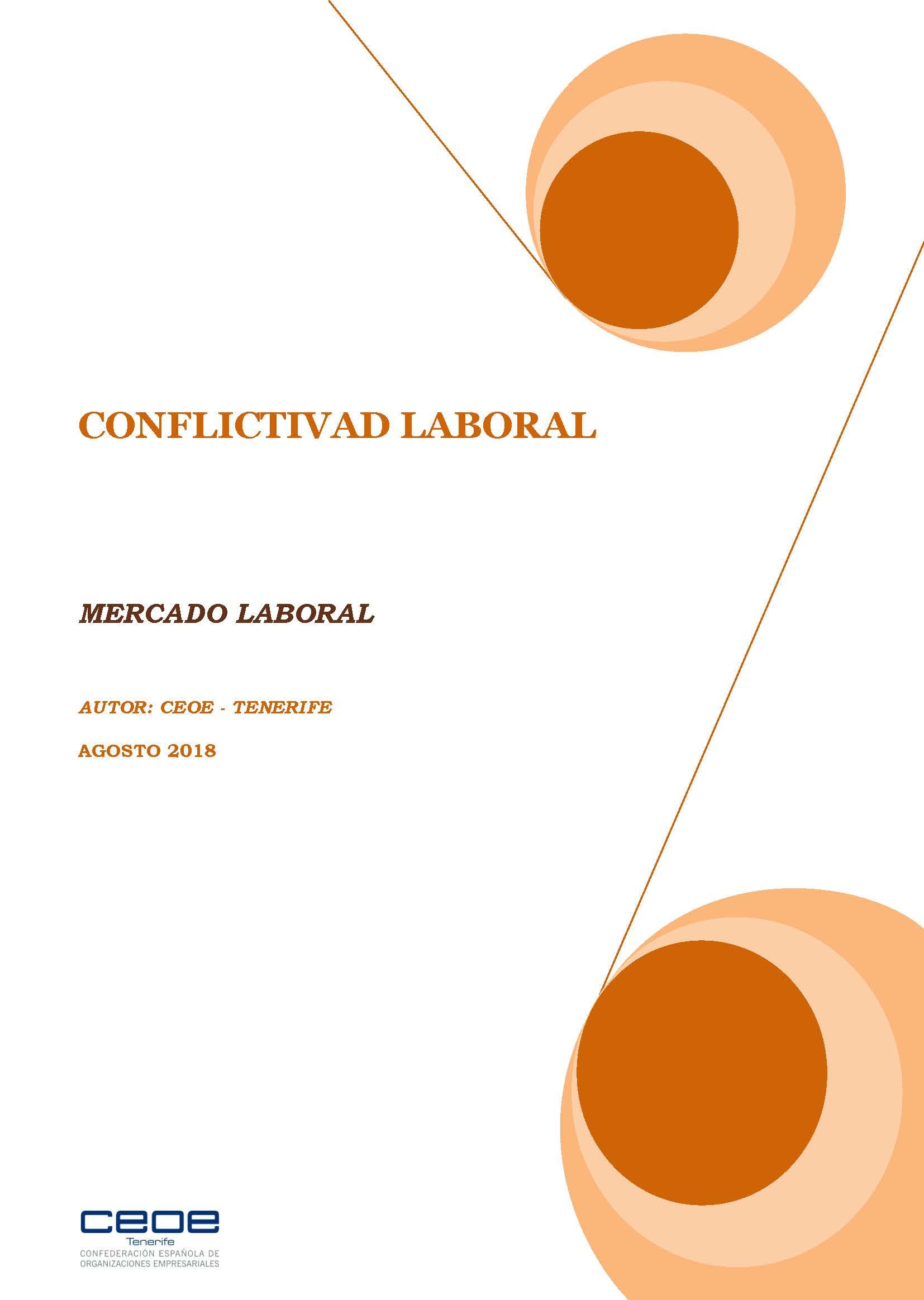 MERCADO LABORAL - CONFLICTIVIDAD LABORAL AGOSTO 2018