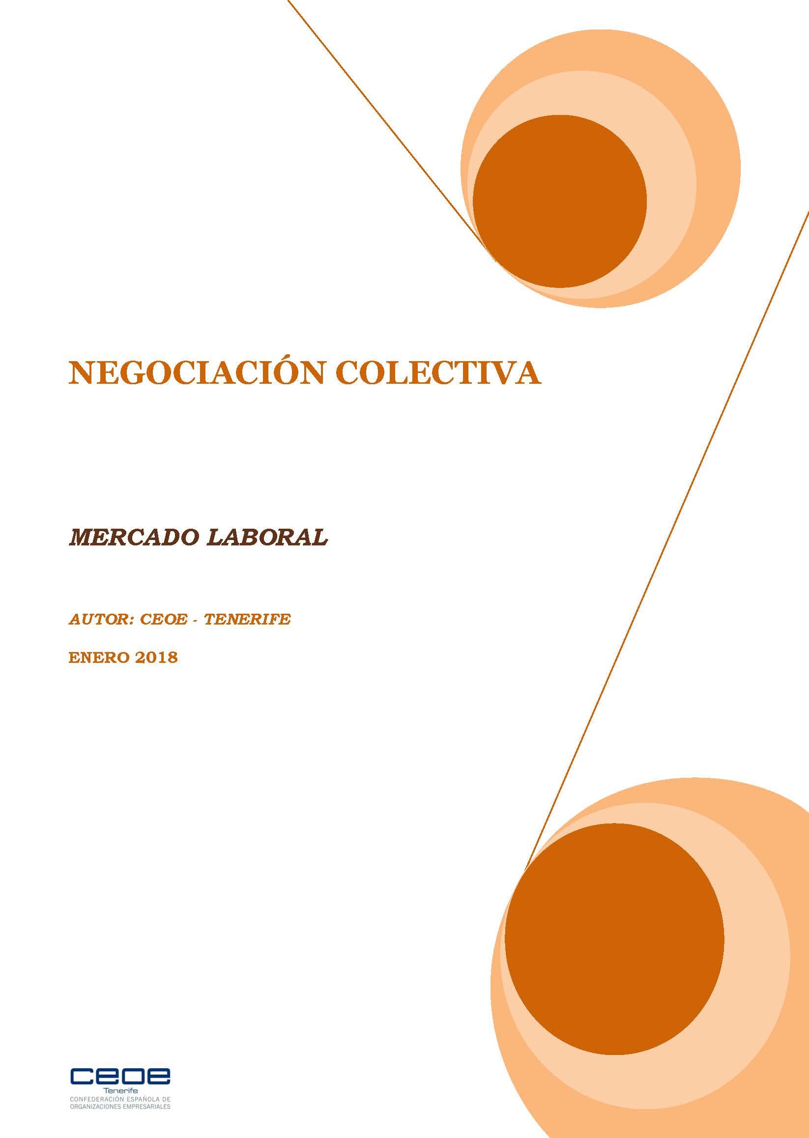 MERCADO LABORAL - NEGOCIACION COLECTIVA ENERO 2018