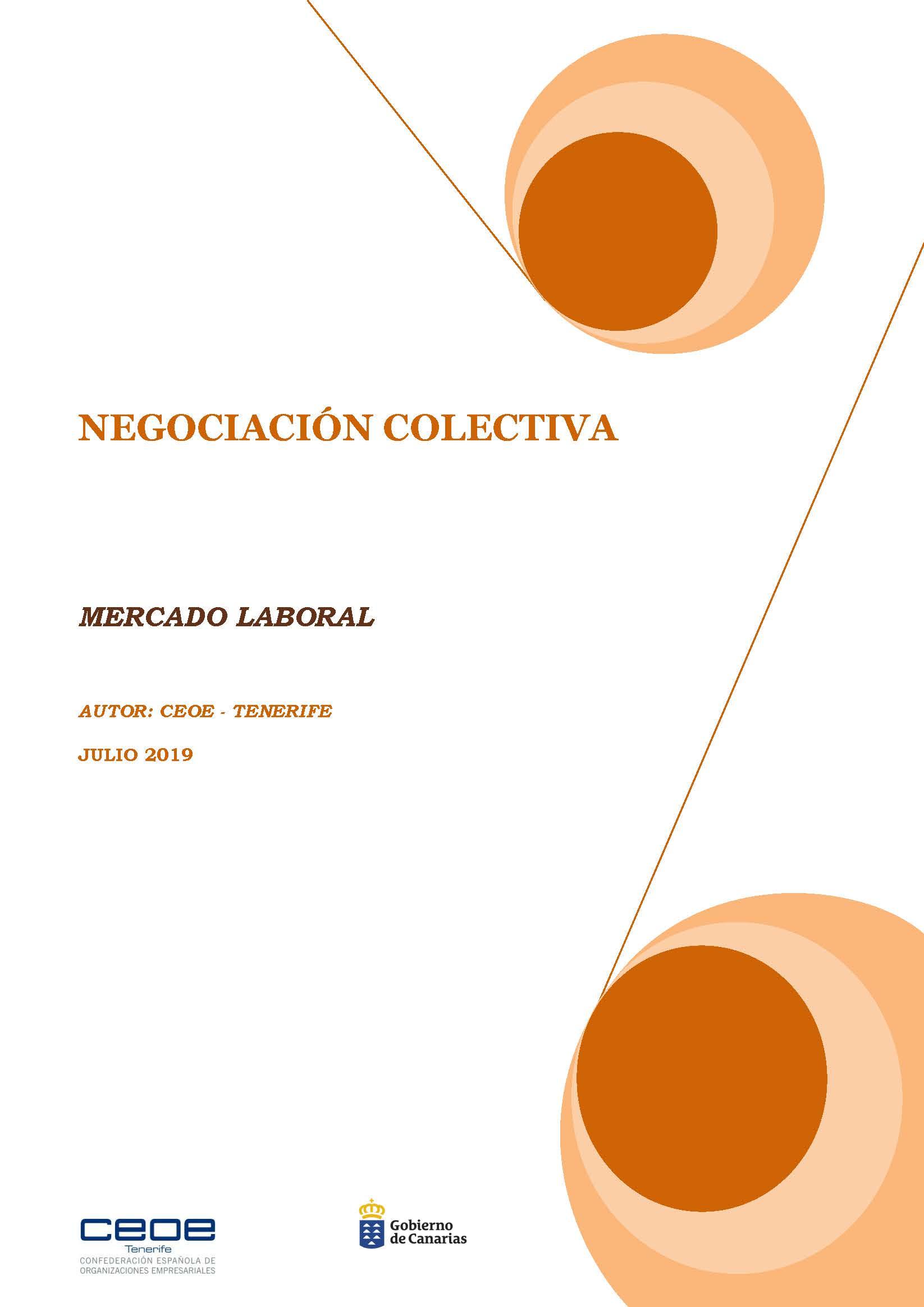 MERCADO LABORAL - NEGOCIACION COLECTIVA JULIO 2019
