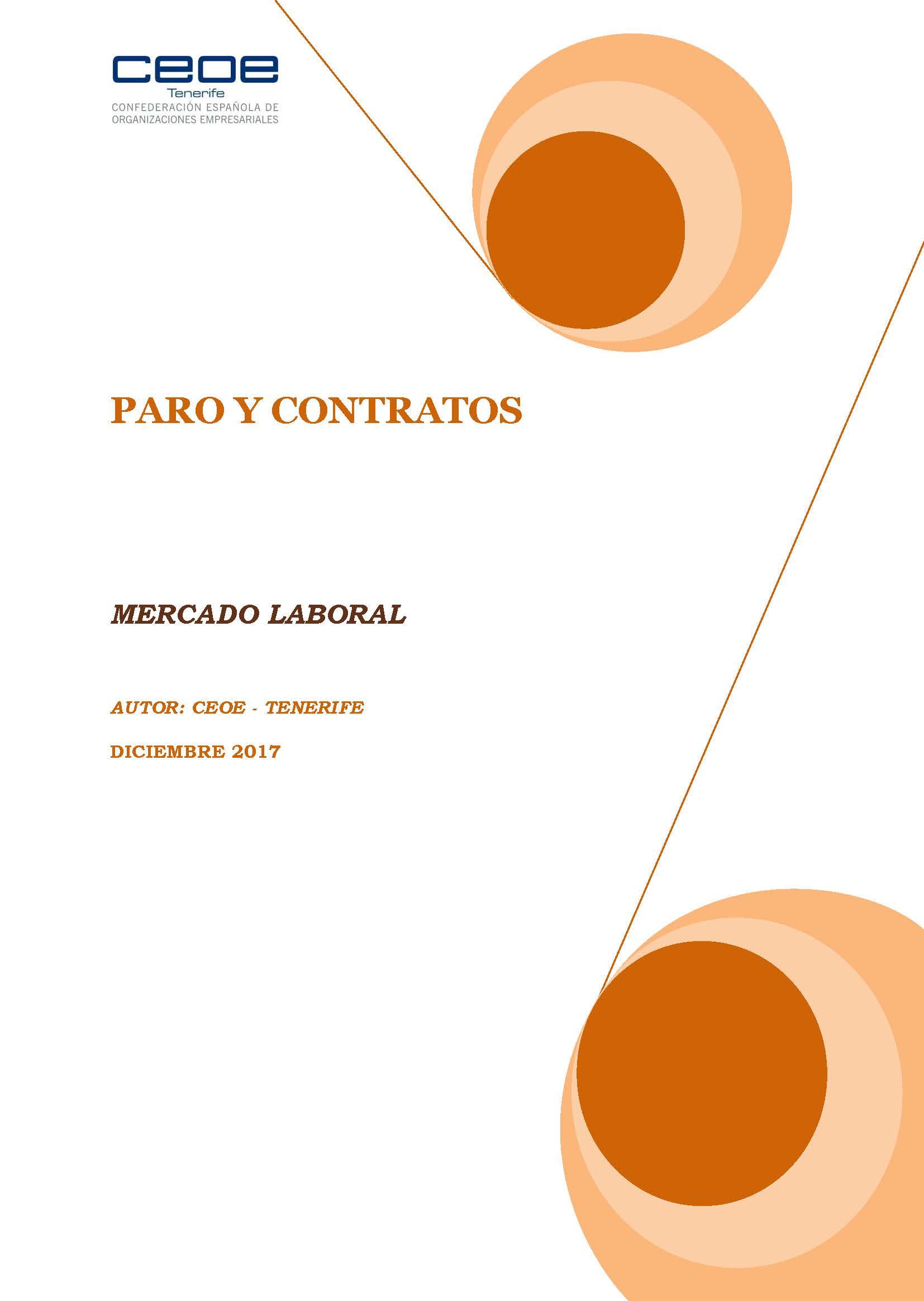 MERCADO LABORAL - PARO Y CONTRATOS DICIEMBRE 2017