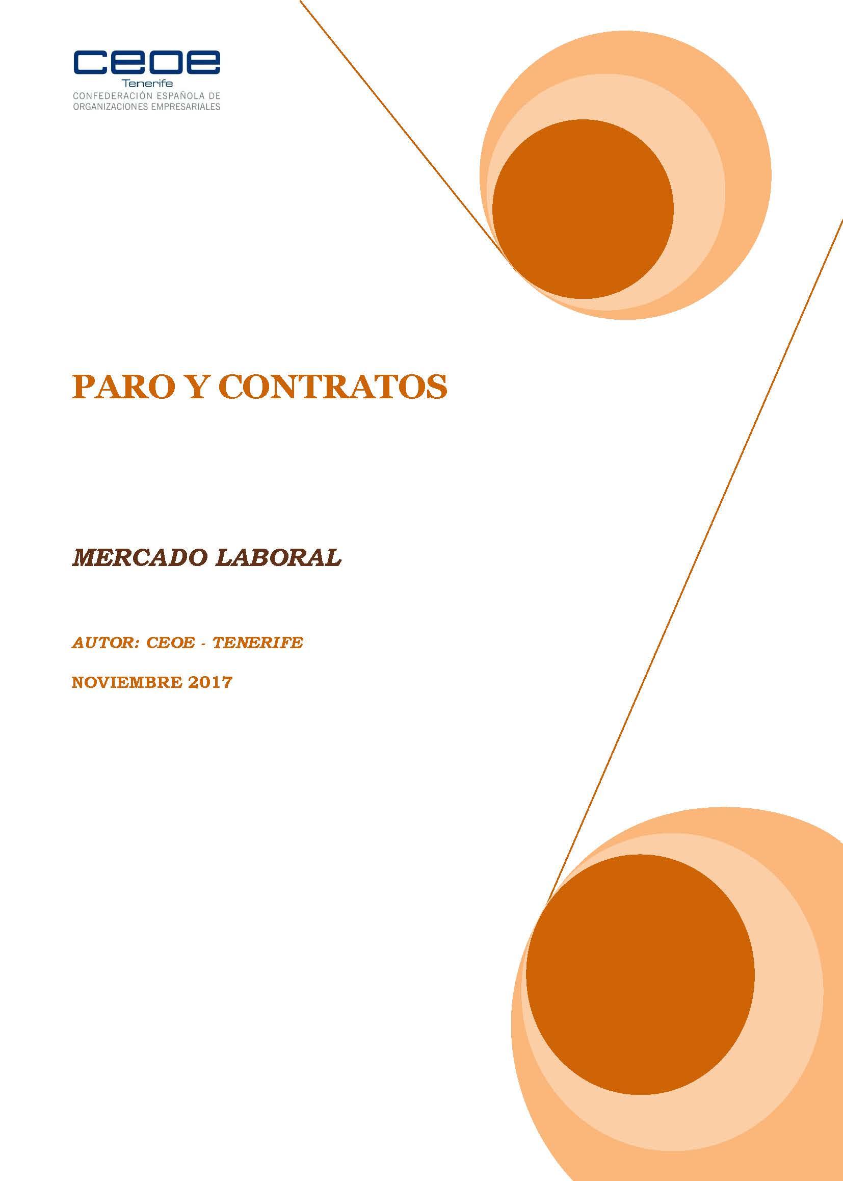 MERCADO LABORAL - PARO Y CONTRATOS NOVIEMBRE 2017