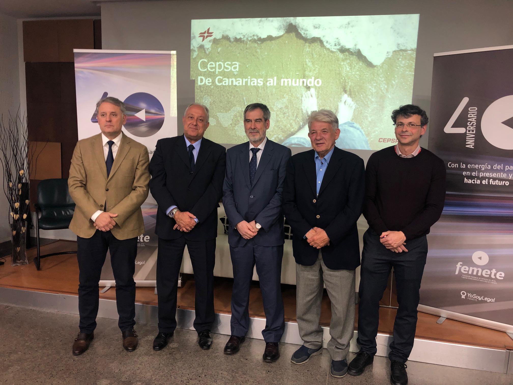 Resultado de imagen de Cepsa y la Federación Provincial de Empresas del Metal y Nuevas Tecnologías de Santa Cruz de Tenerife (Femete